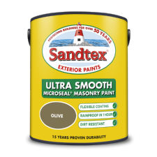Sandtex 5L Olive smooth masonry paint